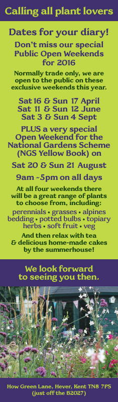 How Green Nursery Public Open Days 2016