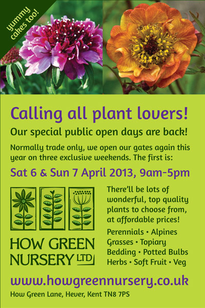 Our public open days are back! 6th & 7th April 2013